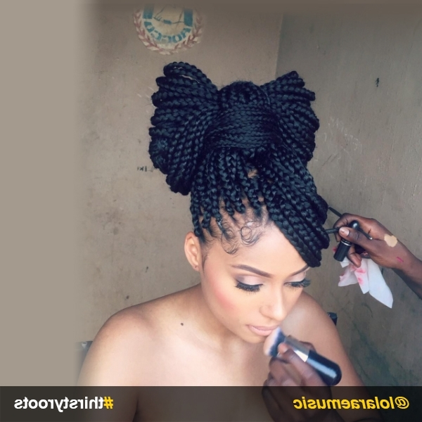 How To Do A Bow Hairstyle On Braids Or Locs With Regard To Bow Braid Ponytail Hairstyles (View 17 of 25)
