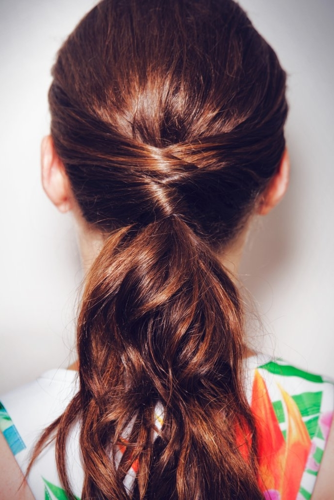 How To Do A Criss Cross Ponytail From Pinterest | Popsugar Beauty With Regard To The Criss Cross Ponytail Hairstyles (View 21 of 25)