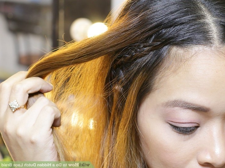 How To Do A Hidden Dutch Lace Braid (With Pictures) – Wikihow Throughout Hidden Braid Hairstyles (View 22 of 25)