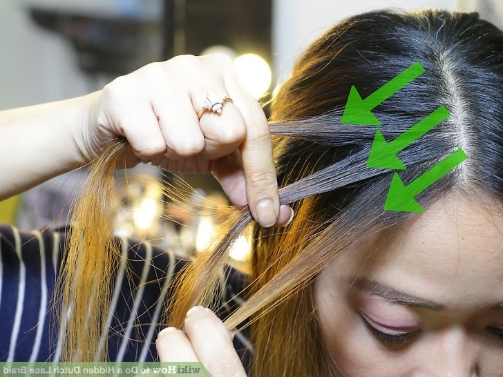 How To Do A Hidden Dutch Lace Braid (With Pictures) – Wikihow With Hidden Braid Hairstyles (View 21 of 25)