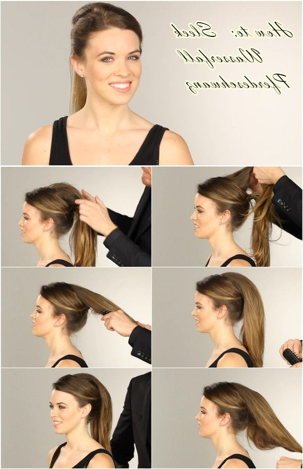 How To Do A Nicole Richie Waterfall Ponytail Hair Tutorial | Hair Intended For Cascading Ponytail Hairstyles (View 17 of 25)