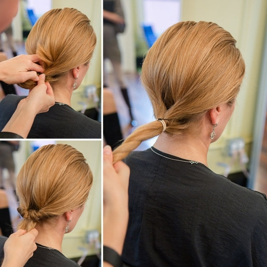 How To Do An Inside Out Ponytail | Popsugar Beauty Inside Low Twisted Flip In Ponytail Hairstyles (View 19 of 25)