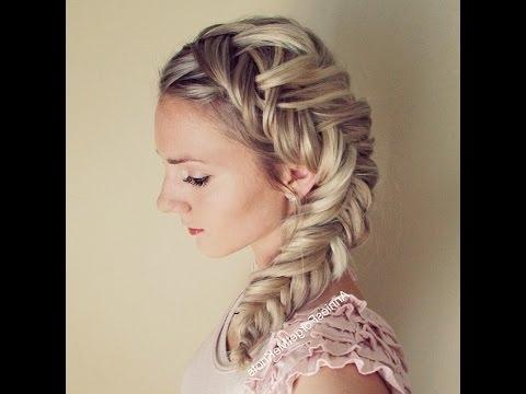How To: Dutch Fishtail Braid (Elsa Hair) – Youtube Regarding Chunky Ponytail Fishtail Braid Hairstyles (View 22 of 25)