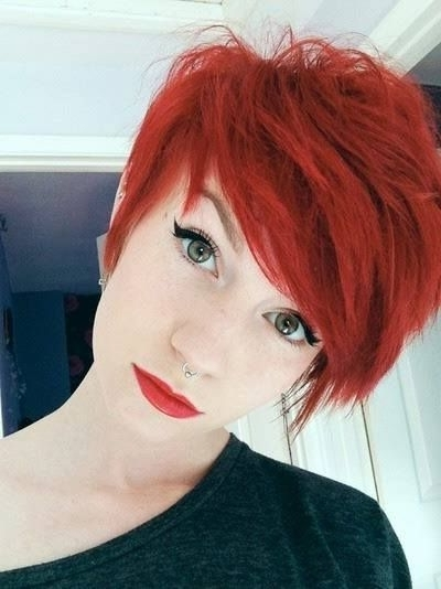 How To Dye Hair Red | Pixie! | Pinterest | Red Hair, Short Hair And For Most Popular Ravishing Red Pixie Hairstyles (View 14 of 25)