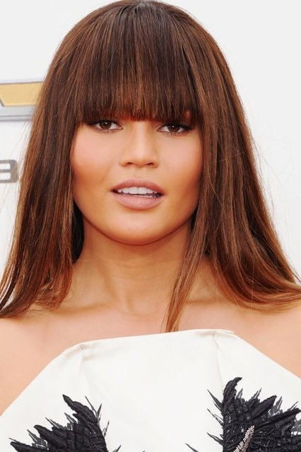 How To Fake Bangs, Faux Bob Hairstyles Pertaining To Brunette Ponytail Hairstyles With Braided Bangs (View 22 of 25)