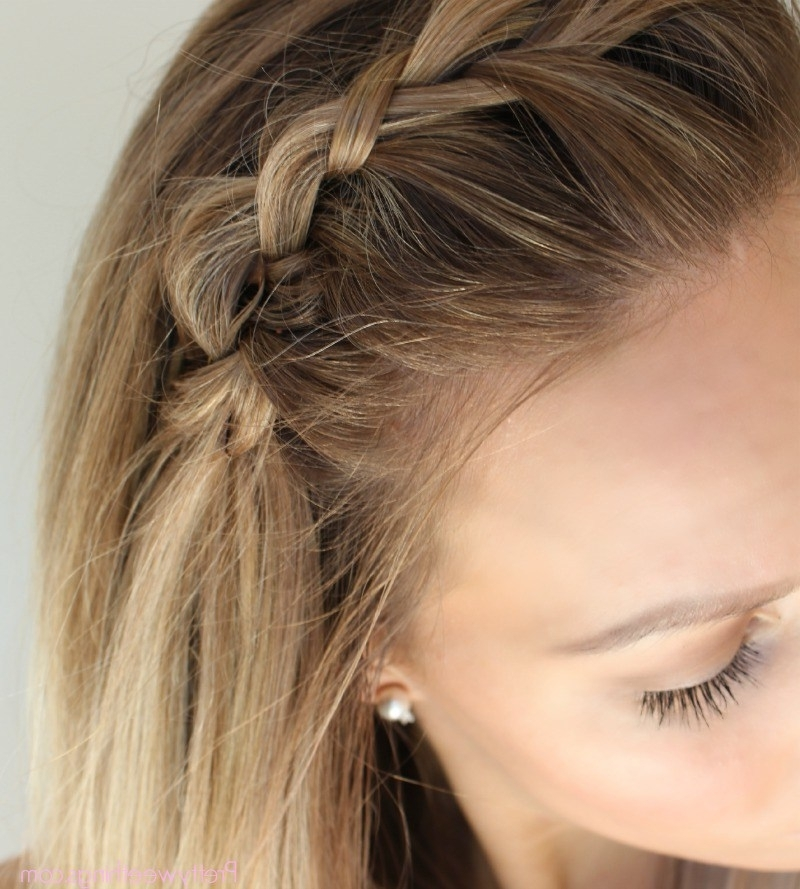 How To French Braid Along Your Hairline – Her Nourished Throughout Braided Along The Way Hairstyles (View 21 of 25)