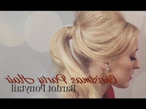 How To Get A Bardot Ponytail – Youtube In Bardot Pony Hairstyles (View 18 of 25)