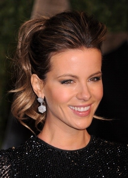 How To Get A Pompadour Ponytail Like Kate Beckinsale, Emmanuelle With Pompadour Pony Hairstyles (View 6 of 25)
