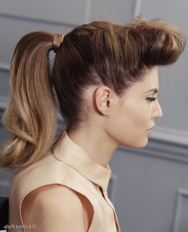 How To Get A Rockabilly Ponytail With Ombre Hair With Casual Retro Ponytail Hairstyles (View 7 of 25)
