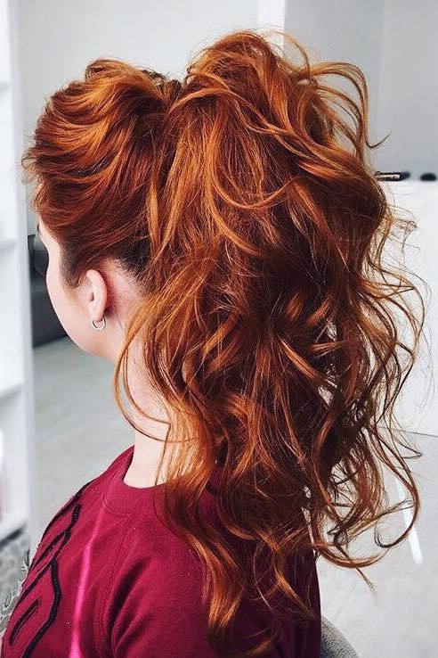 How To Get A Thicker Ponytail: 3 Ways | Hair Inspiration | Pinterest With Regard To Ginger Highlights Ponytail Hairstyles With Side Bangs (View 17 of 25)