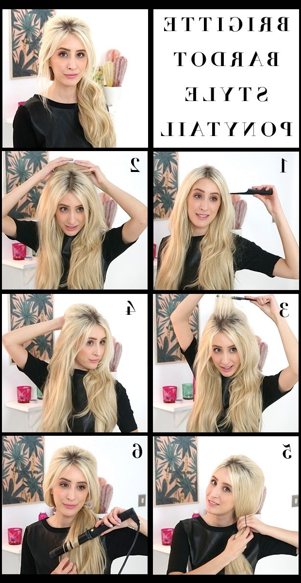 How To Get A Volumized, Bouffant Pony :) | Fashion | Pinterest With Bardot Pony Hairstyles (View 7 of 25)
