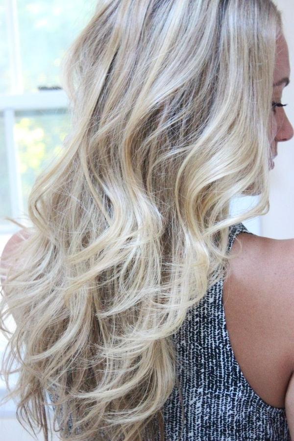 How To Get Beach Wavy Hair ~ Bigyellowzone Throughout Bronde Beach Waves Blonde Hairstyles (View 16 of 25)