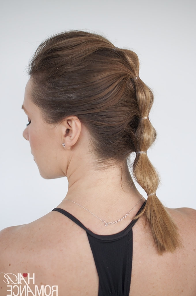 How To Look Good While You Workout – 3 Long Lasting Hairstyle With Regard To High Bubble Ponytail Hairstyles (View 7 of 25)