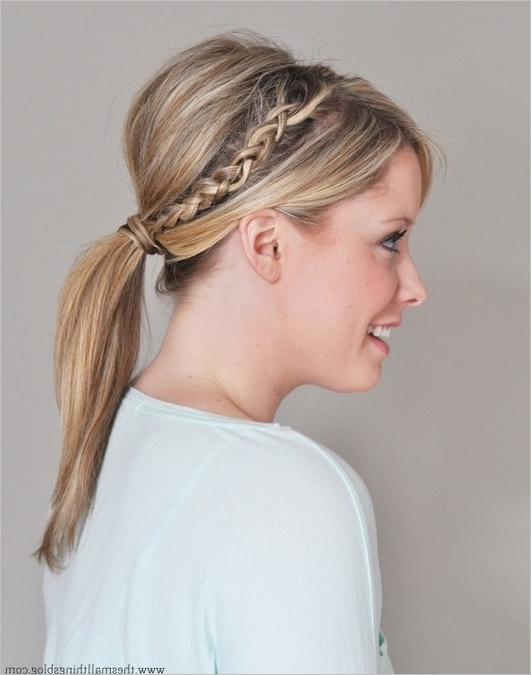 How To Make A Braided Ponytail Modern Hairstyle – Best Hair Highlights With Regard To Ponytail And Lacy Braid Hairstyles (View 18 of 25)