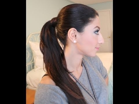 How To: Ponytail With Luxy Hair Extensions – Youtube Intended For Mature Poofy Ponytail Hairstyles (View 20 of 25)