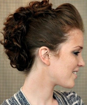 How To Rock An Edgy Curly Faux Hawk | Naturallycurly Pertaining To Fierce Faux Mohawk Hairstyles (View 16 of 25)
