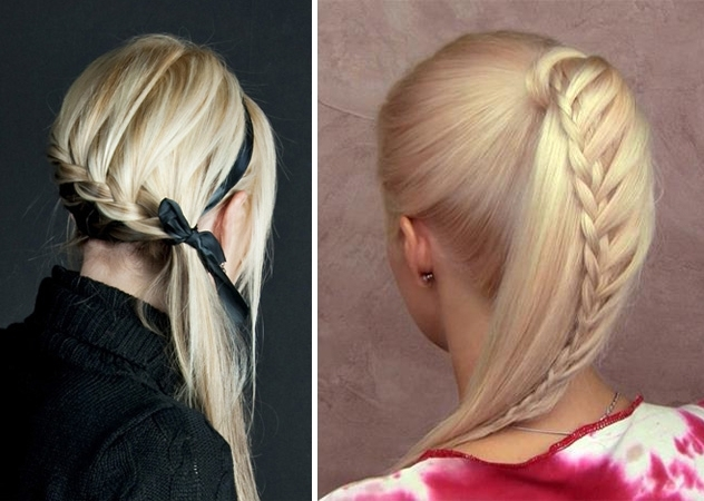 How To Style A Cascade Braided Ponytail | Fashionisers Throughout Cascading Ponytail Hairstyles (View 13 of 25)