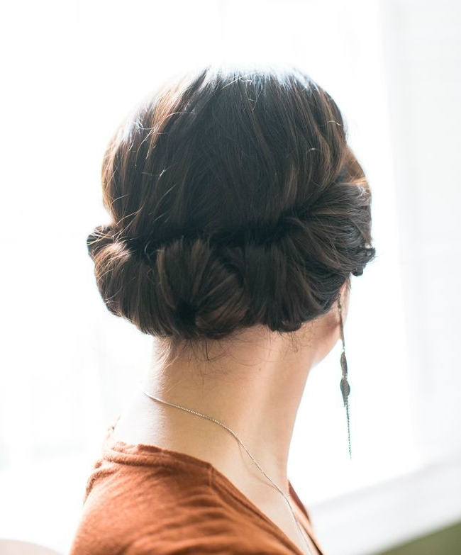 How To Style A Twisted Updo (With A Headband) | Stylecaster Inside Romantic Twisted Hairdo Hairstyles (View 23 of 25)