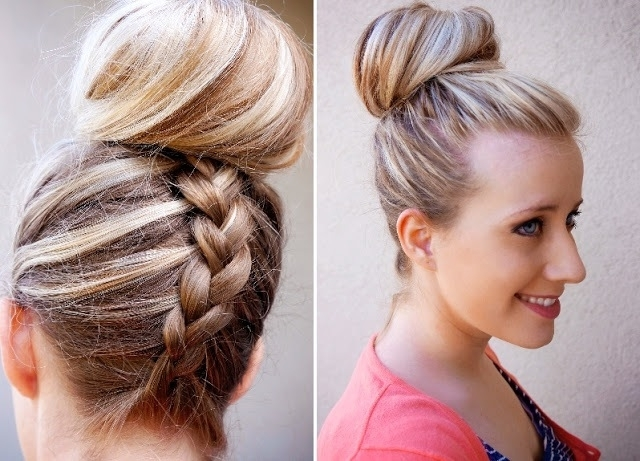 How To Style An Inverted French Braid Top Knot   Fashionisers Within Reverse French Braid Ponytail Hairstyles (View 14 of 25)