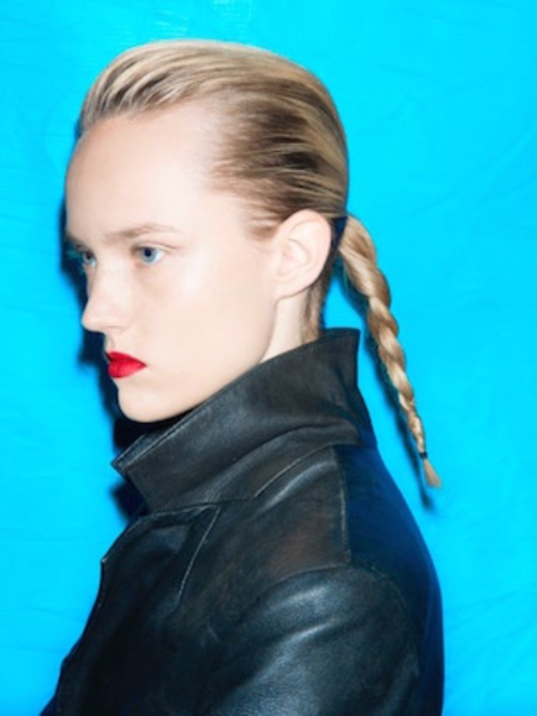 How To Take Your Ponytail To The Next Level Courtesy Of Céline | Allure Inside Braided Millennial Pink Pony Hairstyles (View 10 of 25)