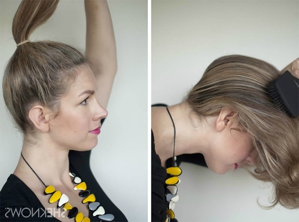 How To: Top Knot Hairstyle Tutorial Throughout Pebbles Pony Hairstyles (View 9 of 25)