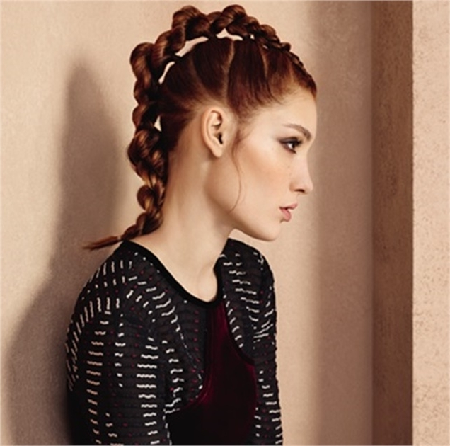 How To: Twisted Mohawk Using Ponytails – Hairstyling & Updos With Mohawk Braid And Ponytail Hairstyles (View 23 of 25)