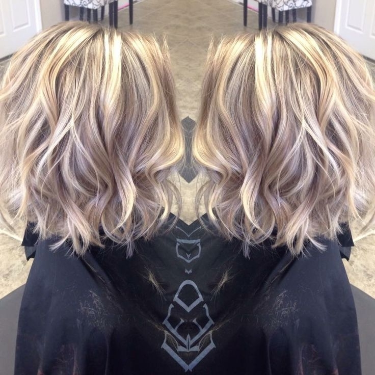 I Absolutely Love The Color And Cut! | Hair | Pinterest | Hair Style Within Loose Curls Blonde With Streaks (View 21 of 25)