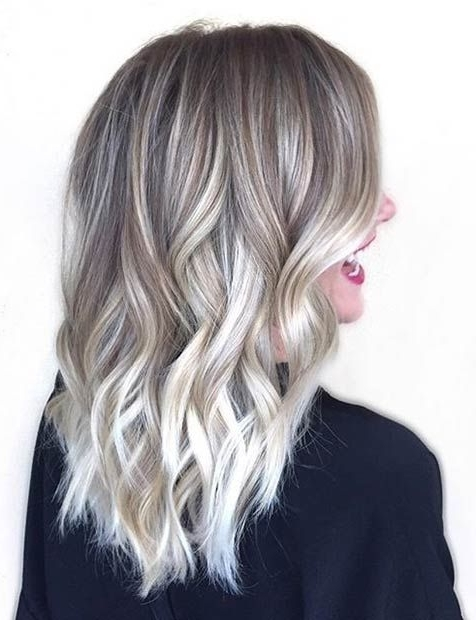 Ice Blonde/grey Ombré … | Hair Color | Pinte… For Icy Ombre Waves Blonde Hairstyles (View 21 of 25)