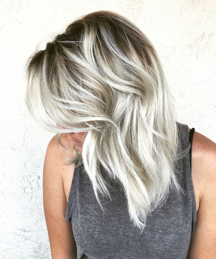 Icy Blonde Shadow Root Alchemyhair … | Hair In 2018… With Platinum Blonde Hairstyles With Darkening At The Roots (View 10 of 25)