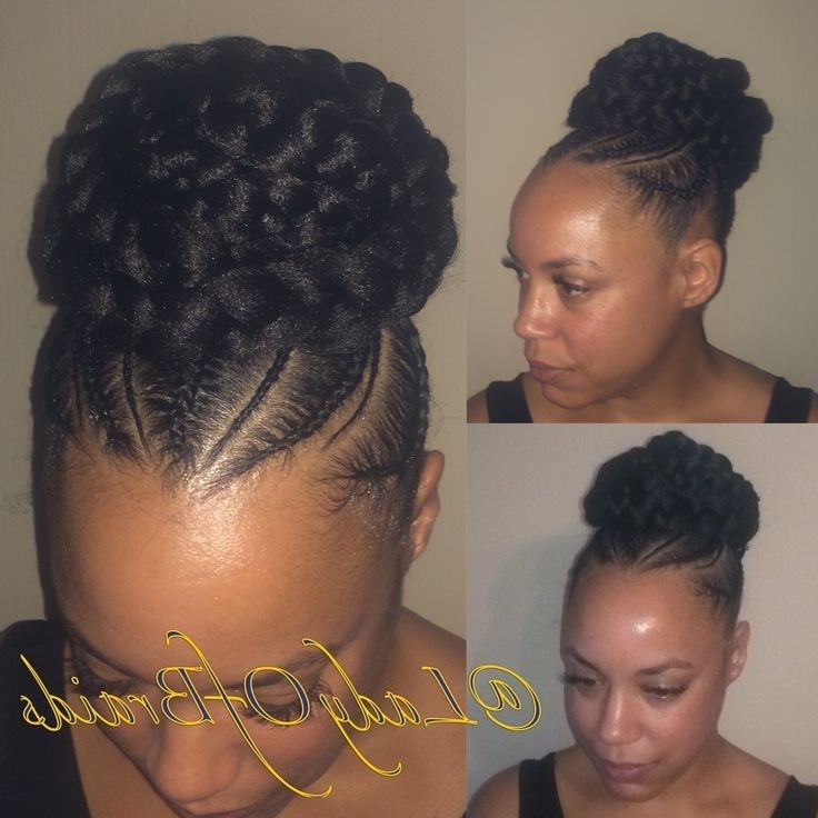 Image Result For Cornrow Ponytail With Bangs   Braids   Pinterest With Pony Hairstyles With Curled Bangs And Cornrows (View 18 of 25)