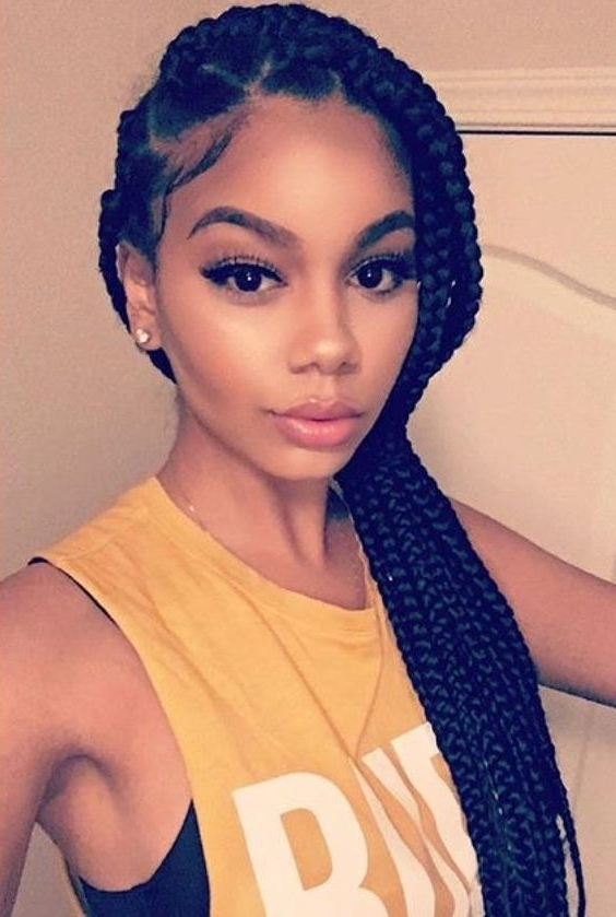 Image Result For Jumbo Box Braids Ponytail | Chic Ponytail Hairstyle Pertaining To Box Braids Pony Hairstyles (View 3 of 25)