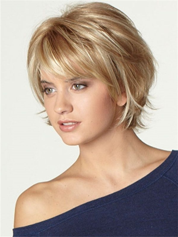 Image Result For Medium Short Haircuts 2016 | Fine Hair Styles With Inside Shaggy Chin Length Blonde Bob Hairstyles (View 20 of 25)