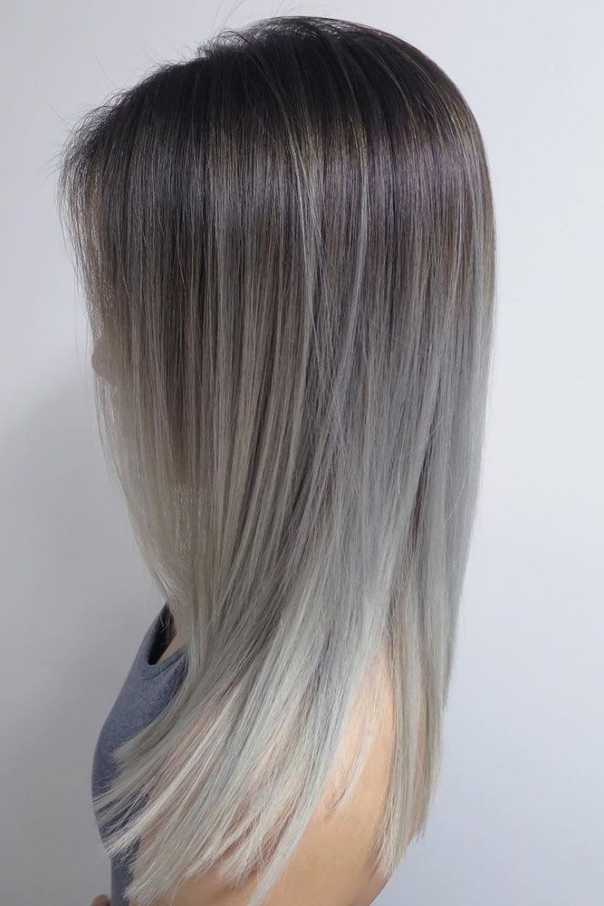 Images Of Black To Dark Grey Ombre Hair – #spacehero In Grayscale Ombre Blonde Hairstyles (View 14 of 25)