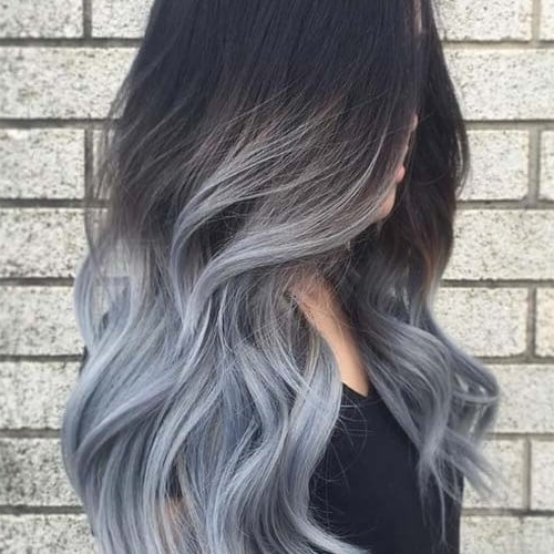 Images Of Black To Dark Grey Ombre Hair – #spacehero Within Grayscale Ombre Blonde Hairstyles (View 13 of 25)