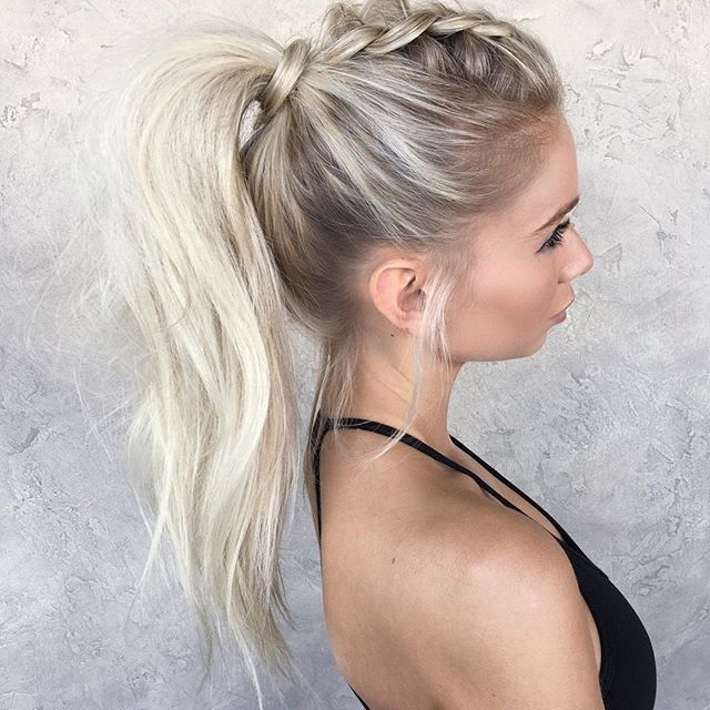 Instagram Postchrissy Rasmussen (@hairby Chrissy) | Hair Regarding Mohawk Braid And Ponytail Hairstyles (View 7 of 25)