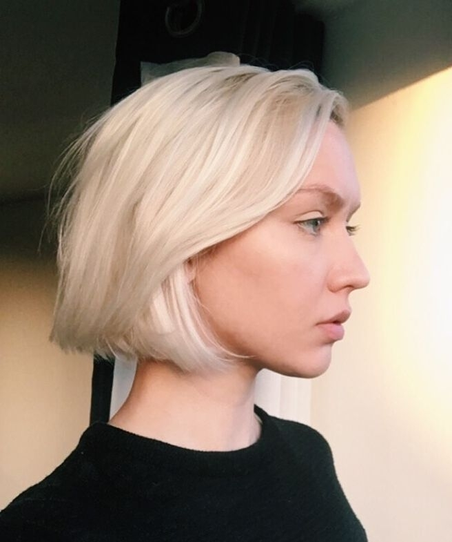 Instagram @toafer Blonde Bob Hair Hairstyle Texture Haircut Cut With Regard To Textured Platinum Blonde Bob Hairstyles (View 4 of 25)