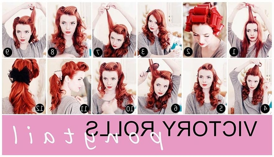 Jane Aldridge's Low Ponytail With Victory Rolls Hairstyle Tutorial With Casual Retro Ponytail Hairstyles (View 20 of 25)