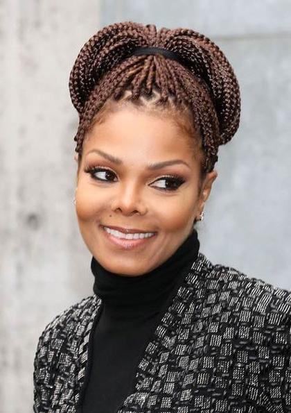 Janet Jackson's Box Braids High Ponytail – Casual, Party, Evening Regarding Box Braids Pony Hairstyles (View 20 of 25)