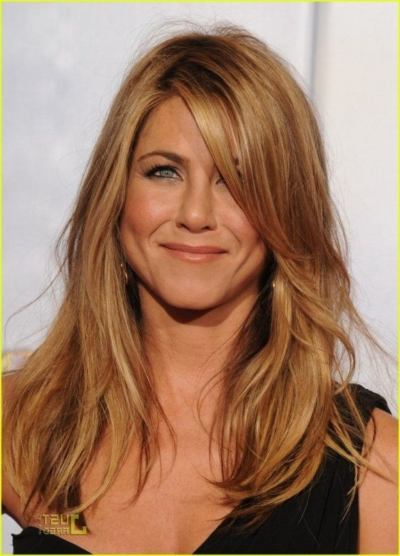 Jennifer Aniston Side Swept Bangs: Extra Long | Make Me Pretty inside Side Swept Warm Blonde Hairstyles