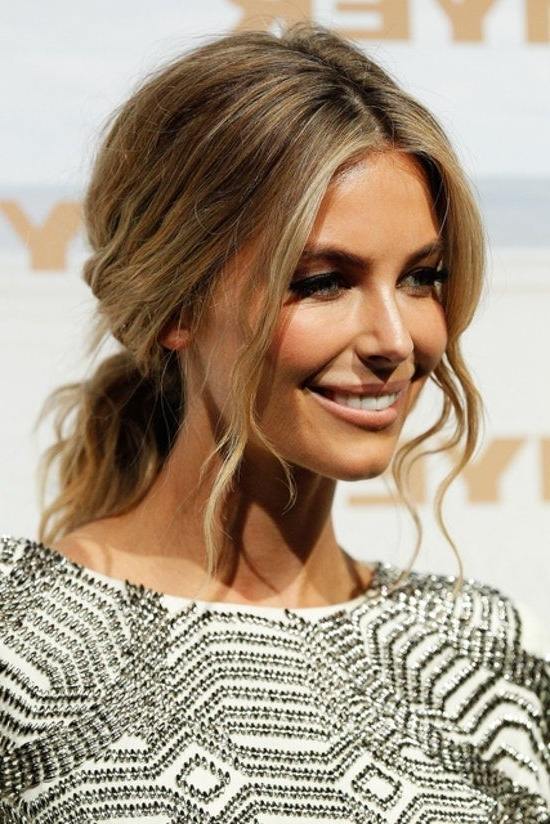 Jennifer Hawkins - Tousled Low Loose Ponytail | H A I R | Pinterest inside Messy Low Ponytail Hairstyles