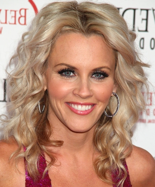 Jenny Mccarthy Medium Wavy Casual Shag Hairstyle - Light Ash Blonde within Feathered Ash Blonde Hairstyles