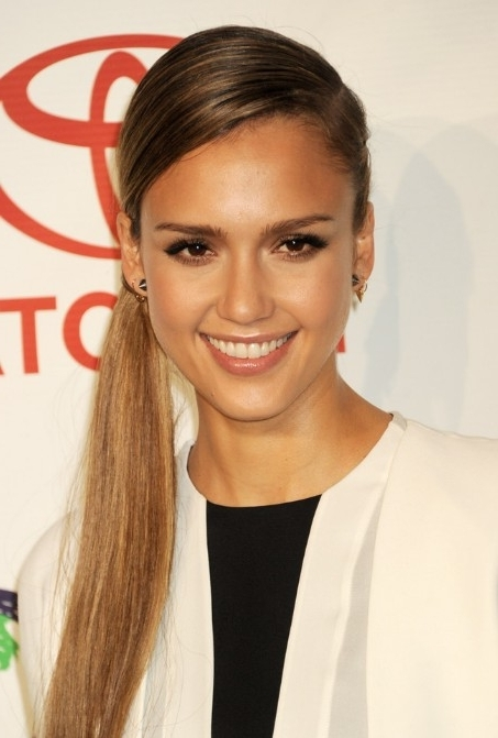 Featured Photo of Side Braided Sleek Pony Hairstyles