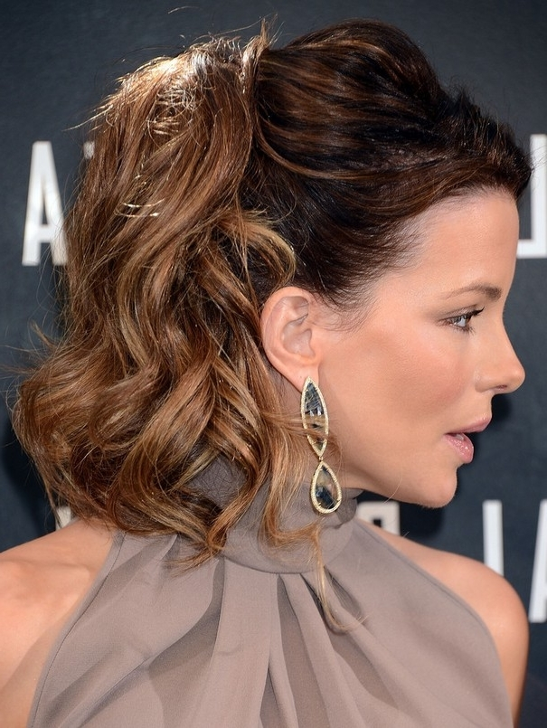 Kate Beckinsale 1960S Inspired Bouffant Ponytail Hairstyle For Women In Bouffant Ponytail Hairstyles For Long Hair (View 7 of 25)