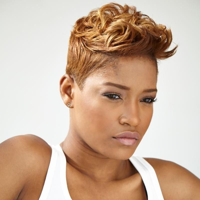 Keke Palmer In A Honey Blonde Short Cut <3 | Short Pixie Styles Regarding Recent Long Honey Blonde And Black Pixie Hairstyles (View 1 of 25)