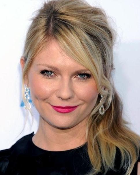 Kirsten Dunst Side Ponytail – Prom, Party, Formal, Evening Regarding Sassy Side Ponytail Hairstyles (View 16 of 25)