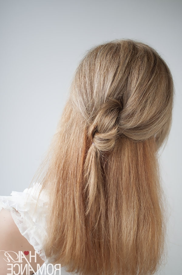 Knot Your Average Half Ponytail Hairstyle Tutorial – Hair Romance Pertaining To Double Tied Pony Hairstyles (View 14 of 25)