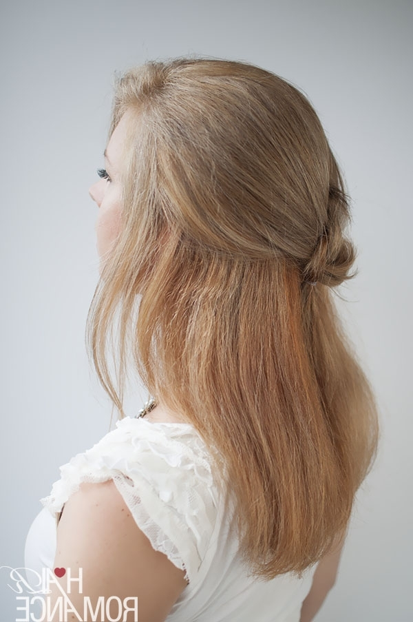 Knot Your Average Half Ponytail Hairstyle Tutorial – Hair Romance Throughout Half Ponytail Hairstyles (View 20 of 25)