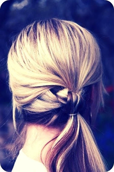 Knotted Ponytail – 25 Super Easy Hairstyles Only Girls With Long… With Regard To Knotted Ponytail Hairstyles (View 11 of 25)