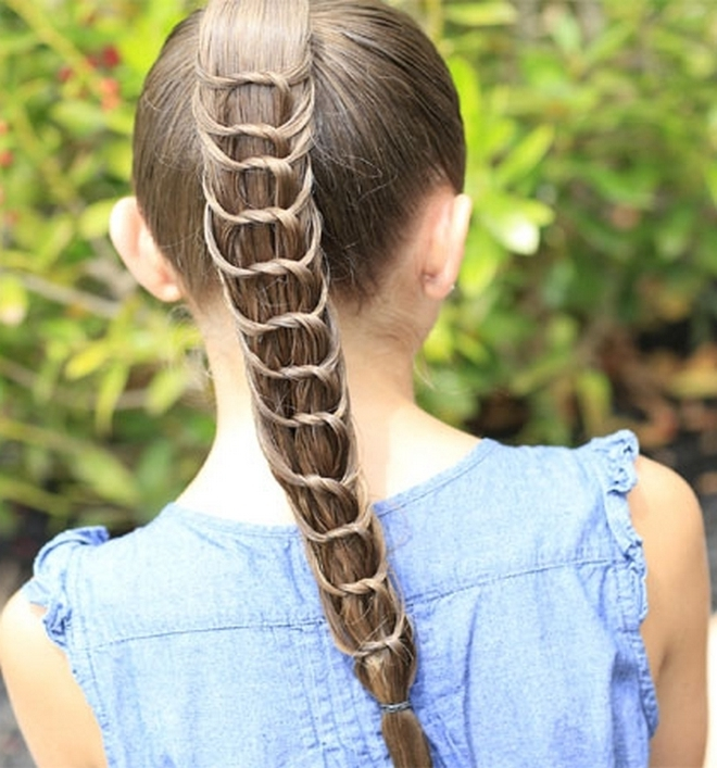 Knotted Ponytail Hairstyle For Long Hair • Latest Hairstyles For Pertaining To Braided And Knotted Ponytail Hairstyles (View 8 of 25)