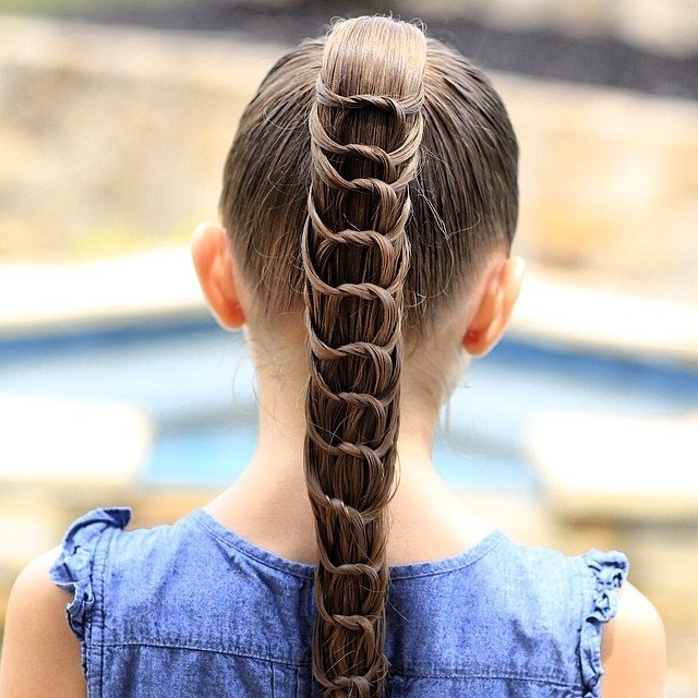 Knotted Ponytail | Summer Hairstyles For Kids | Popsugar Moms Photo 1 Throughout Knotted Ponytail Hairstyles (View 14 of 25)